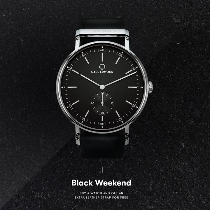Black Weekend all weekend! If you're buying a Carl Edmond watch during Black Wee…